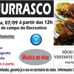 Clube Recreativo realiza churrasco na sede do clube de Campo